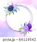 花 フレーム 枠 64119542
