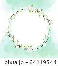 花 フレーム 枠 64119544