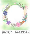 花 フレーム 枠 64119545