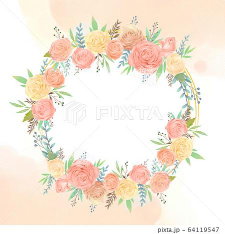 花 フレーム 枠 64119547