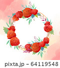 花 フレーム 枠 64119548
