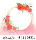 花 フレーム 枠 64119551