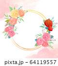 花 フレーム 枠 64119557