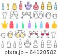 手描き ドリンク アイコン セット 64120582