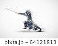 kendo abstract silhouette 2 vector ver. 64121813