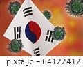 世界中の国々に広がるコロナウイルスのイメージ画像 64122412