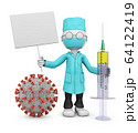 doctor with  a signboard 64122419