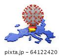 Coronavirus Germany map 64122420