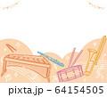 楽器のイラストを使った背景素材 64154505