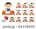 学生 生徒 中学生 高校生 勉強 制服 男性 セット 64156402