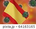 世界中の国々に広がるコロナウイルスのイメージ画像。 64163165