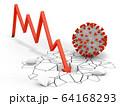 Arrow graph coronavirus 64168293