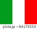 イタリアの国旗 64170354