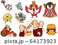 鳥キャラクター スズメ ニワトリ ヒヨコ ペンギン 64173923