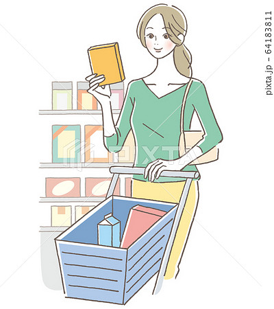 買い物 女性 64183811
