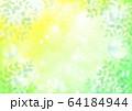 緑キラキラとシャボン玉新緑横 64184944
