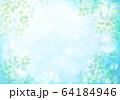 青キラキラとシャボン玉新緑横 64184946