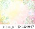 黄キラキラとシャボン玉新緑横 64184947