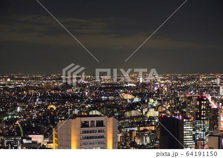 渋谷スクランブルスクエアから見た東京西部の夜景 64191150