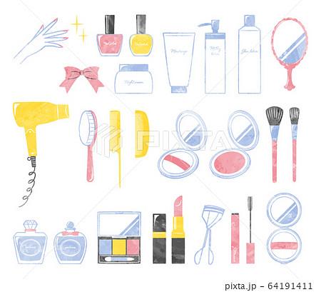 illustration of bath and make up 64191411