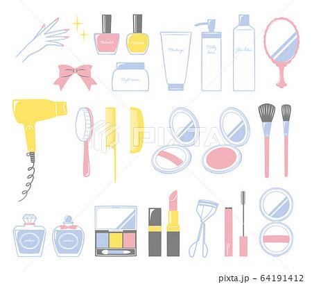 illustration of bath and make up 64191412