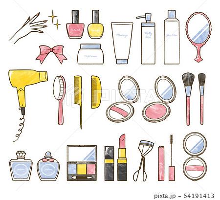 illustration of bath and make up 64191413