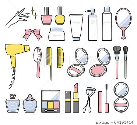 illustration of bath and make up 64191414