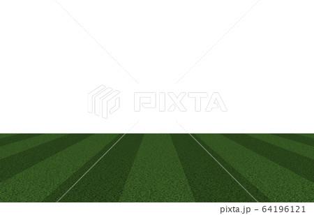 芝生のスポーツ運動場 スタジアム、グラウンド、サッカー場、ラグビーなど 64196121