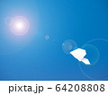 大空を飛ぶ紙ヒコーキ 64208808