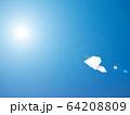 大空を飛ぶ紙ヒコーキ 64208809