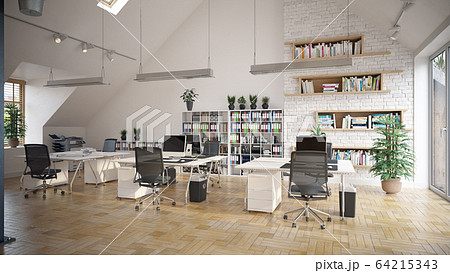 contemporary loft office 64215343