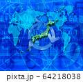 世界地図と日本地図とリサイクル 64218038