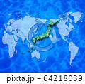 世界地図と日本地図とリサイクル 64218039