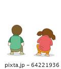 子供 少年 少女 後ろ姿 64221936