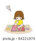 子供 少女 パズル 考える. 64221974