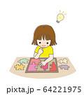 子供 少女 パズル ひらめく 64221975