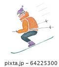 スキー 水彩 イラスト 64225300