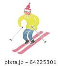 スキー 水彩 イラスト 64225301