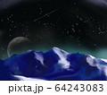 月  星空 山 64243083