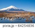 山梨_厳冬の山中湖畔風景 64254836