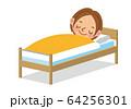 眠る女性 64256301