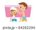 お風呂 親子 女の子 64262294