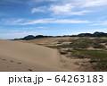 鳥取砂丘と地平線 64263183