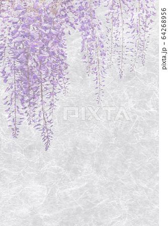和紙アート、藤の花 64268956