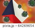 世界中の国々に広がるコロナウイルスのイメージ画像 64269654