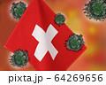 世界中の国々に広がるコロナウイルスのイメージ画像 64269656