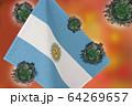 世界中の国々に広がるコロナウイルスのイメージ画像 64269657