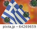 世界中の国々に広がるコロナウイルスのイメージ画像 64269659