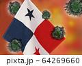世界中の国々に広がるコロナウイルスのイメージ画像 64269660