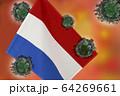 世界中の国々に広がるコロナウイルスのイメージ画像 64269661